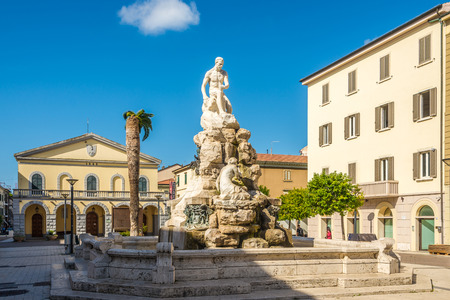 CECINA,ITALY - SEPTEMBER 18,2018 - View at the fountain of Maremma in Cecina. Cecina lies in the Province of Livorno in the Italian region Tuscany.