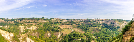 Panoramic view at the Lubriano town from Civita di Bagnoregio - Italy