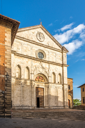 View at the church of Saint Agostino in Montepulciano, Italy