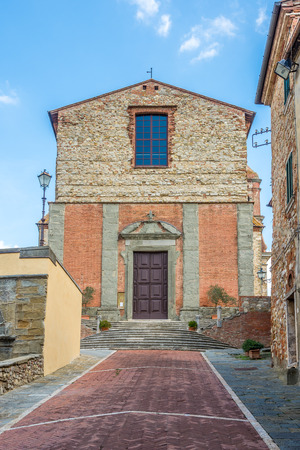 View at the church of Saint Michael Archangel in Lucignano - Italy Stock Photo
