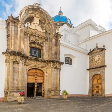 View at the coutyard of Metropolitan Cathedral in Guatemala City - Guatemala