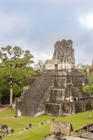 View at the Tikal Temple II from Nord Acropolis - Tikal National Park - Guatemala