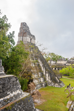 View at the Tikal Temple I from Nord Acropolis - Tikal National Park - Guatemala