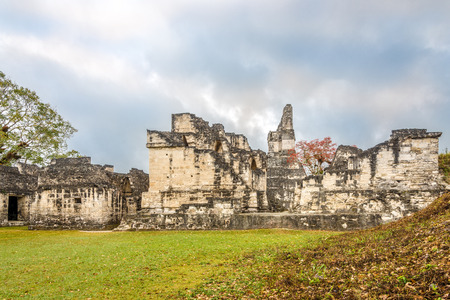 Central Acropolis of Ancient City Tikal In Tikal National Park, Guatemala Stock Photo - 121799972