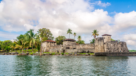 Spanish colonial fort San Felipe de Lara at Lake Izabal - Guatemala