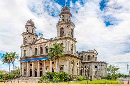View at the Old Santiago Cathedral of Managua - Nicaragua