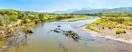 Panoramic view at the River Tarcoles from Crocodile Bridge - Costa Rica