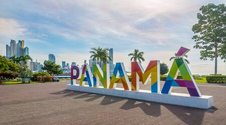 PANAMA CITY, PANAMA - MARCH 30,2019 - In the streets of Downtown of Panama City. Panama City is the capital of Panama.