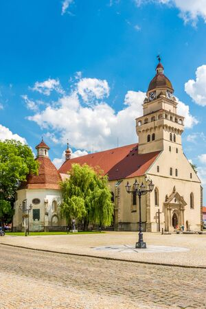 SKALICA,SLOVAKIA - JUNE 21,2019 - View at the Saint Michael Church in Skalica. Skalica is located near the Czech border in western Slovakia