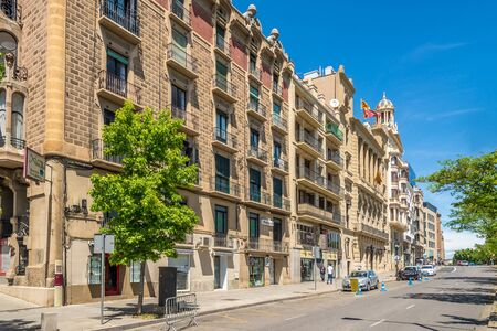 LLEIDA,SPAIN - MAY 11,2019 - In the streets of Lleida. Lleida is one of the oldest towns in Catalonia,Spain.