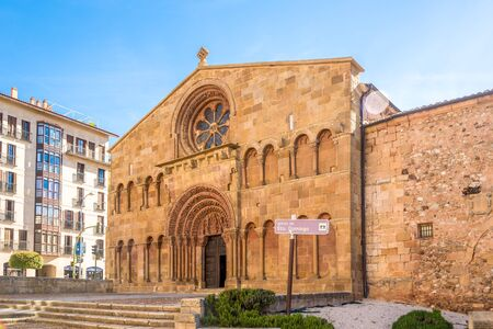 SORIA,SPAIN - MAY 12,2019 - View at the Church of Santo Domingo in Soria. Soria is the second highest provincial capital in Spain ,1063 metres above sea level. 報道画像