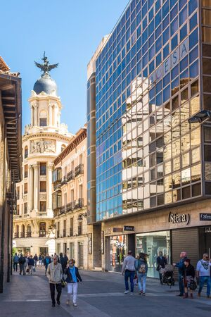 VALLADOLID,SPAIN - MAY 13,2019 - In the streets of Valladolid. Valladolid is made up of a variety of historic houses, palaces, churches, plazas, avenues and parks. Editorial