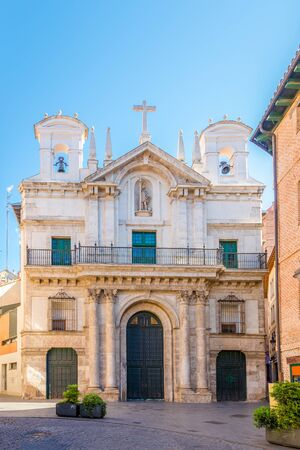 View at the Church of Vera Cruz in Valladolid, Spain
