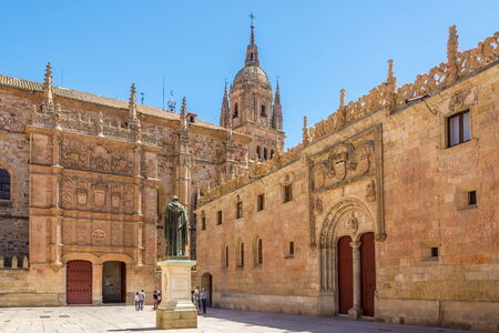 View at the Courtyard of University in Salamanca, Spain