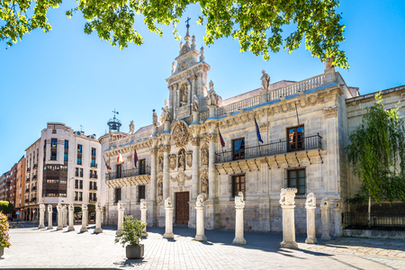 View at the University building in the streets of Valladolid - Spain