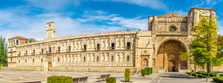 Panoramic view at the San Marcos Convent in Leon, Spain