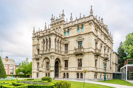 VITORIA, SPAIN - MAY 18,2019 - View of the Art Museum in Victoria-Gasteiz. Vitoria is a multicultural city with strengths in the arts, education, healthcare, architectural conservation, oenology and gastronomy. Redactioneel