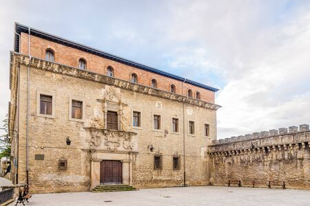VITORIA, SPAIN - MAY 18,2019 - Escoriaza - Esquivel Palace in Victoria-Gasteiz. Vitoria is a multicultural city with strengths in the arts, education, healthcare, architectural conservation, oenology and gastronomy.