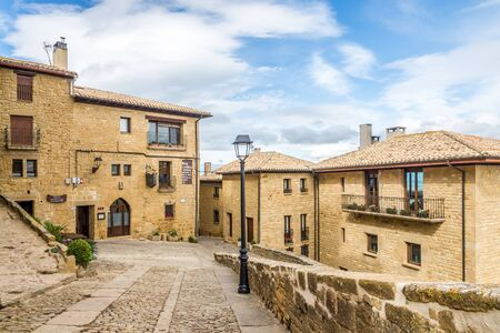 UJUE,SPAIN - MAY 18,2019 - In the streets of Ujue. Ujue is a town and municipality located in the province and autonomous community of Navarre, northern Spain. Editorial