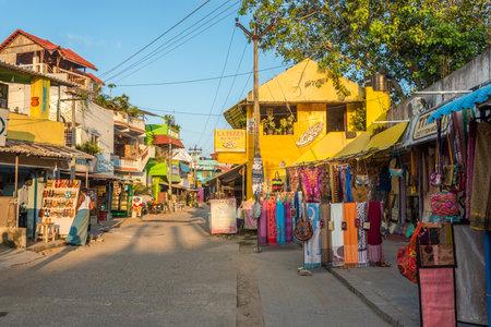 MAHABALIPURAM,INDIA - NOVEMBER 12,2019 - In the streets of Mahabalipuram. Mahabalipuram, is a town in the southeastern Indian state of Tamil Nadu.