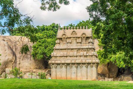 View at the Ganesha Ratha Temple in Mamallapuram - Tamil Nadu,India Reklamní fotografie