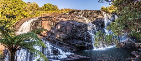 Panoramic view at Bakers Fall in National Park Horton Plains - Sri Lanka