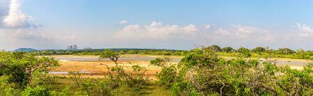 Panoramic view at the Nature in Yala National Park, Sri Lanka