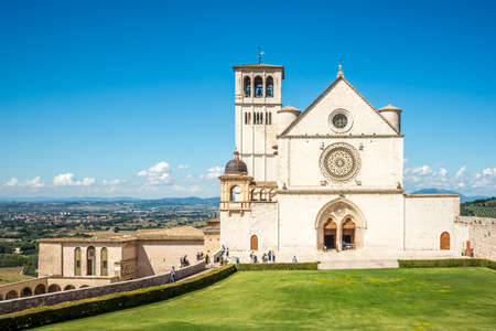 View at the Basilica of San Francesco in Assisi - Italy