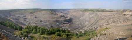 the open-coal mine panorama (summer) photo