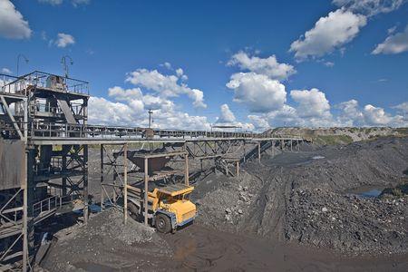 Coal sorting.