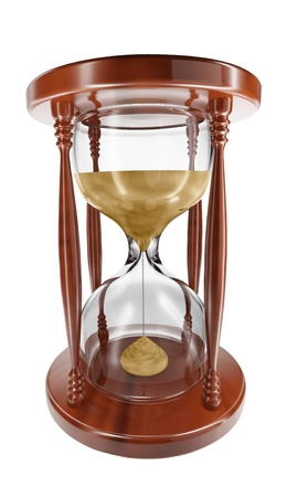 hour glasses: 3D model of an hourglass on white background