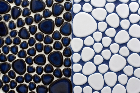 Kék Mozaik Csempe Textúra Fehér Tömés Royalty Free Stock-fotók ...