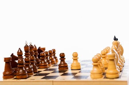 replies: Start a game of chess, Black replies.