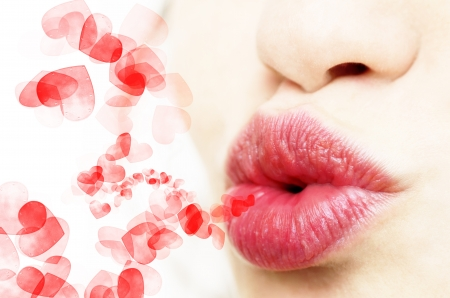 Young beautiful lips of a girl Stock Photo - 19798634