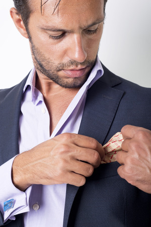 young  cuffs: Mans style. dressing suit, shirt and cuffs