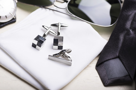 cuff links: Man Stock Photo