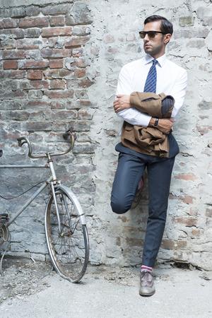 spring fashion: Man Stock Photo