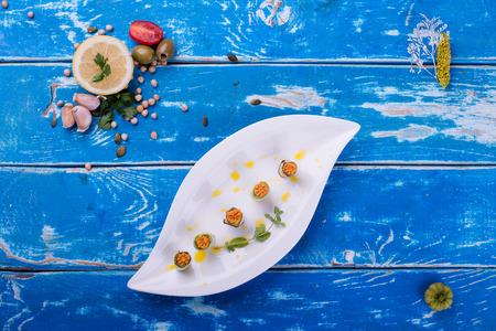 rustic food: Organic food on rustic wooden table