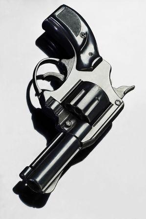 violence and trigger: black revolver
