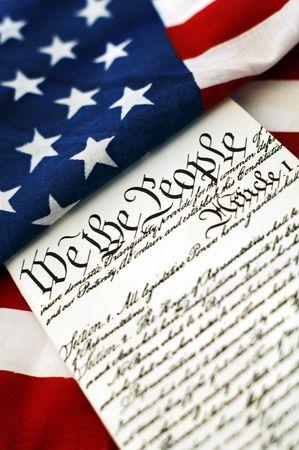jurisprudence: Bandera americana y la constituci�n  Foto de archivo