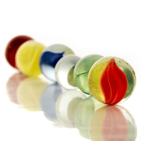 colorful marbles photo