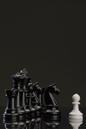 disobedience: white pawn facing stronger enemy