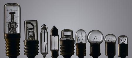 composite: used light bulb composite - nonet