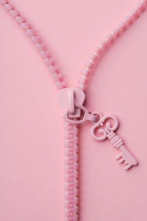interlock: pink zipper on pink background