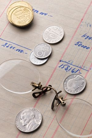 rimless: rimless glasses and different coins over calculus