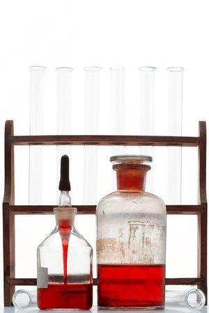 elementos de laboratorio - tubos de ensayo y frascos  Foto de archivo - 935746