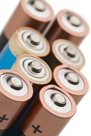 aa: set of AA batteries Stock Photo
