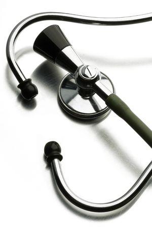 stethoscope on white photo