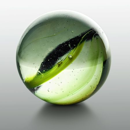 globule: closeup of a marble with reflection Stock Photo