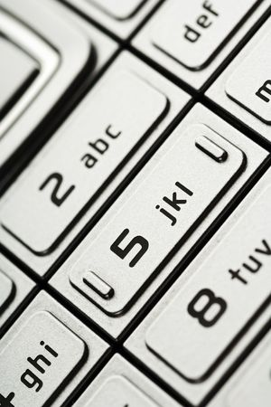 touchtone: closeup of numbers on a cell phone dial Stock Photo